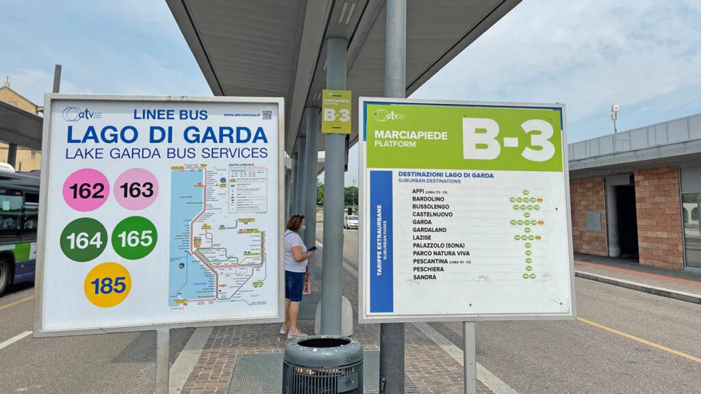 Fahrplan für die Busse an den Gardasee