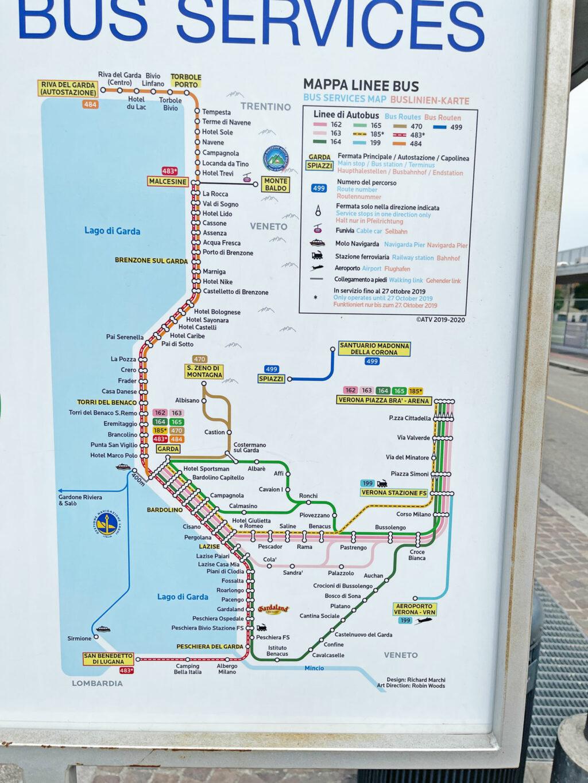 An diese Orte rund um den Gardasee kommst Du entspannt per Bus