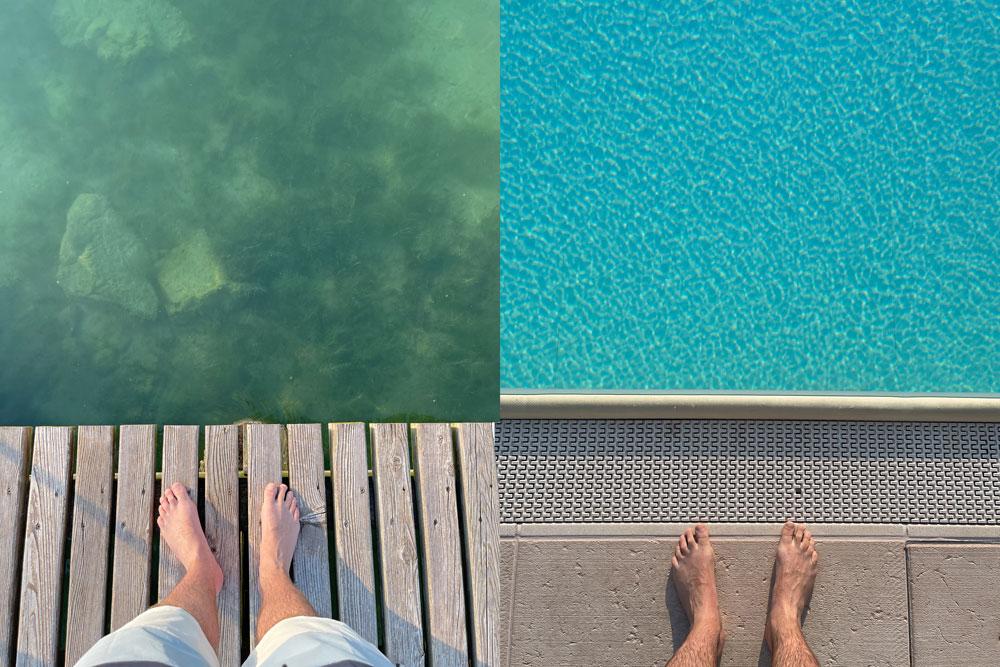 Hotel mit privatem Steg in den Gardasse und eigenem Pool. Geht´s besser