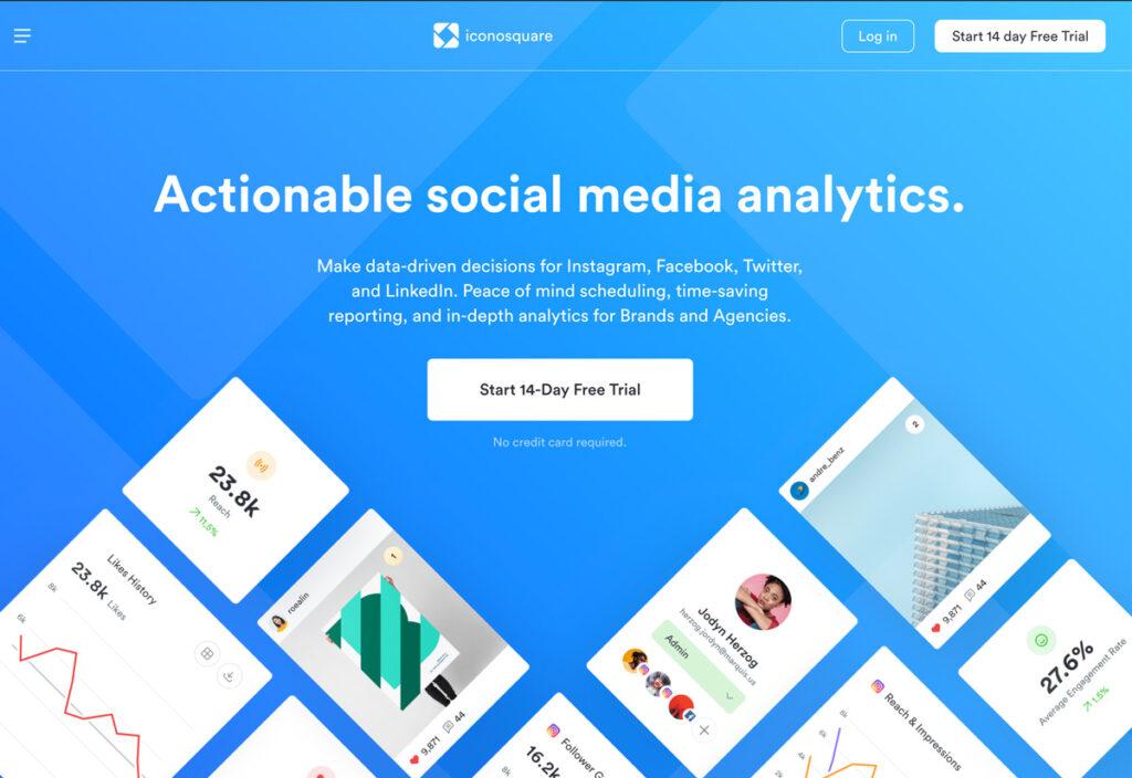 Social Media Analyse Tool Iconosquare